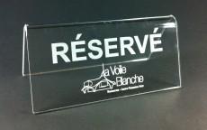 Présentoir «Réservé»
