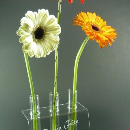 Présentoir Vase 3 Fleurs
